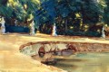 Pool in the Garden of La Granja landscape John Singer Sargent