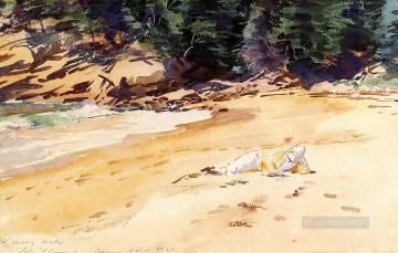 Head Art - Sand Beach Schooner Head Maine John Singer Sargent
