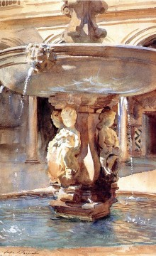 Singer Art Painting - Spanish Fountain John Singer Sargent