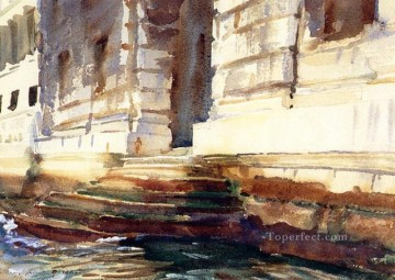 Steps of a Palace landscape John Singer Sargent Oil Paintings