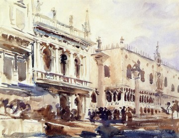 The Piazzetta and the Doges Palace John Singer Sargent Oil Paintings