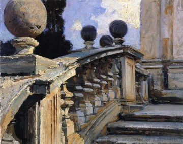 Church Art - The Steps of the Church of S S Domenico e Siste in Rome John Singer Sargent