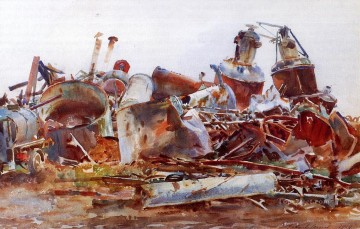 The Wrecked Sugar Refinery John Singer Sargent Oil Paintings