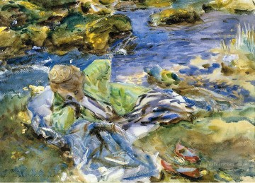 Turkish Woman by a Stream John Singer Sargent Oil Paintings