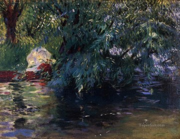 Water Works - A Backwater Calcot Mill near Reading landscape John Singer Sargent