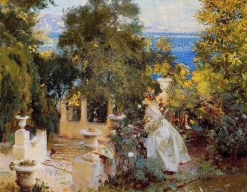 A Garden in Corfu John Singer Sargent Oil Paintings