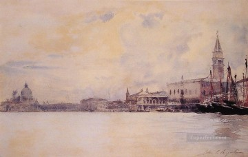 Entrance to the Grand Canal John Singer Sargent Oil Paintings
