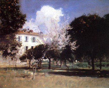 garden Oil Painting - House and Garden John Singer Sargent