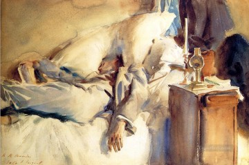 sleep Painting - Peter Harrison Asleep John Singer Sargent