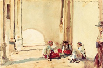 Singer Art Painting - A Spanish Barracks John Singer Sargent