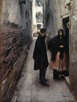 Venice Works - A Street in Venice John Singer Sargent