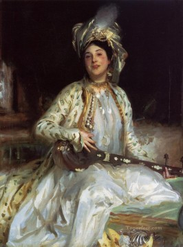 Almina Daughter of Asher Wertheimer portrait John Singer Sargent Oil Paintings