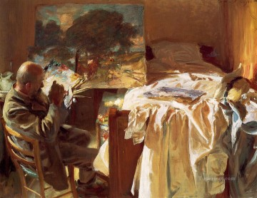 Singer Art Painting - An Artist in His Studio John Singer Sargent