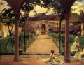At Torre Galli Ladies in a Garden John Singer Sargent