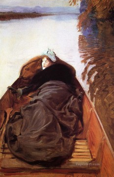 John Singer Sargent Painting - Autumn on the River aka Miss Violet Sargent John Singer Sargent