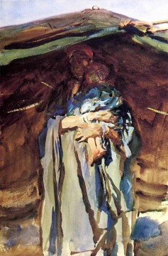 Bedouin Mother John Singer Sargent Oil Paintings