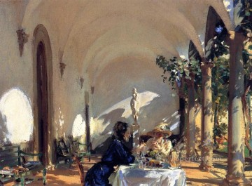 John Singer Sargent Painting - Breakfast in the Loggia John Singer Sargent