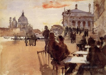 Cafe on the Riva degli Schiavoni John Singer Sargent Oil Paintings