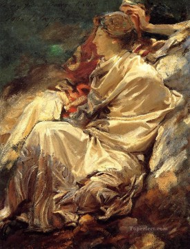 Cashmere Shawl John Singer Sargent Oil Paintings