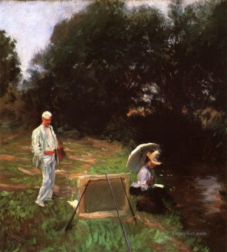 Painting Art Painting - Dennis Miller Bunker Painting at Calcot John Singer Sargent
