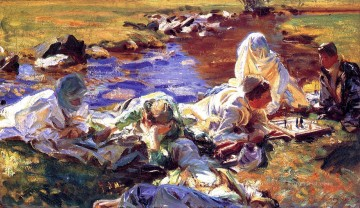 Dolce Far Niente John Singer Sargent Oil Paintings
