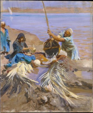 Water Works - Egyptians Raising Water from the Nile John Singer Sargent