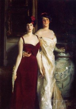 Ena and Betty Daughters of Asher and Mrs Wertheimer portrait John Singer Sargent Oil Paintings
