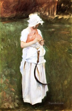Girl with a Sickle John Singer Sargent Oil Paintings
