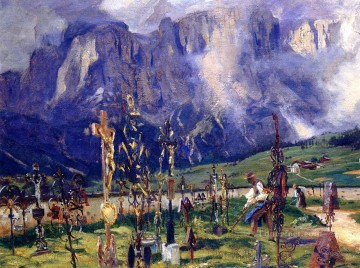 Graveyard in the Tyrol John Singer Sargent Oil Paintings