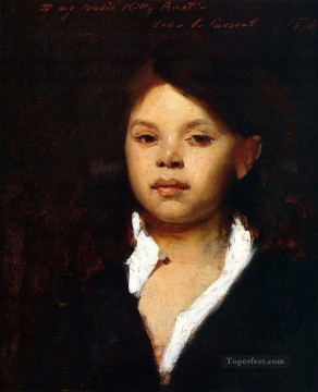 Italian Painting - Head of an Italian Girl portrait John Singer Sargent