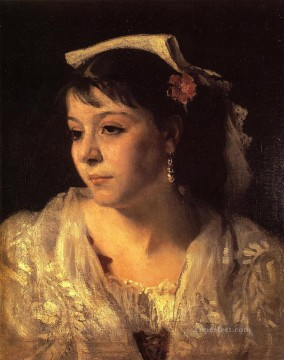Italian Oil Painting - Head of an Italian Woman portrait John Singer Sargent
