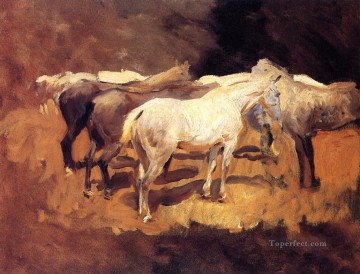 Horses at Palma John Singer Sargent Oil Paintings