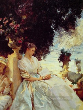 In a Garden Corfu John Singer Sargent Oil Paintings