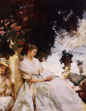 garden Oil Painting - In the Garden Corfu John Singer Sargent