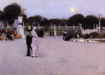 garden Oil Painting - In the Luxembourg Garden John Singer Sargent