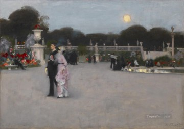 garden Oil Painting - In the Luxembourg Gardens John Singer Sargent
