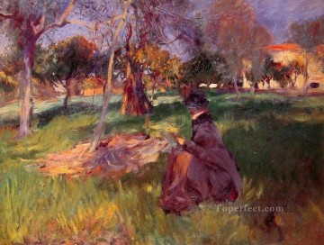 In the Orchard John Singer Sargent Oil Paintings