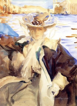 Jan Canvas - Jane de Glehn in a Gondola portrait John Singer Sargent