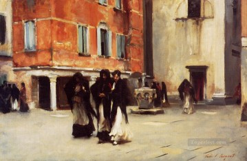 Church Art - Leaving Church Campo San Canciano Venice John Singer Sargent