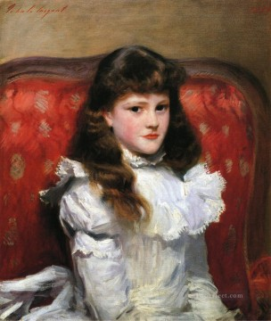 Miss Cara Burch portrait John Singer Sargent Oil Paintings