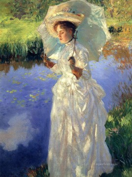 Singer Art Painting - Morning Walk John Singer Sargent