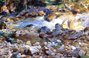 Singer Art Painting - Mountain Stream John Singer Sargent