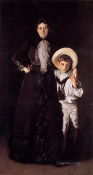 Mrs Edward L Davis and Her Son Livingston portrait John Singer Sargent Oil Paintings