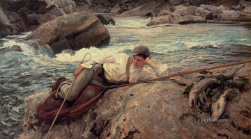 Day Painting - On His Holidays John Singer Sargent