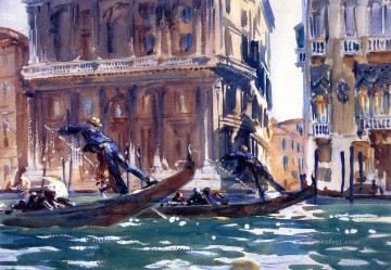 On the Canal John Singer Sargent Oil Paintings