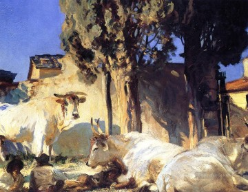 Oxen Resting2 John Singer Sargent Oil Paintings