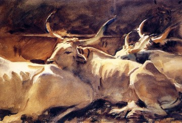 Oxen in Repose John Singer Sargent Oil Paintings