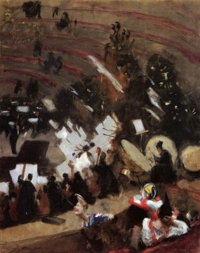 Rehearsal of the Pas de Loup Orchestra at the Cirque dHiver John Singer Sargent Oil Paintings