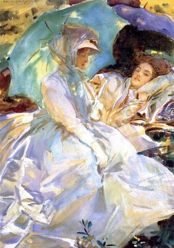 Singer Art Painting - Simplon Pass Reading John Singer Sargent