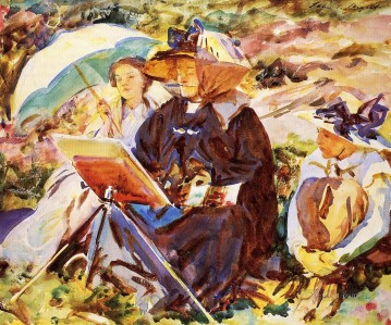 Simplon Pass The Lesson John Singer Sargent Oil Paintings